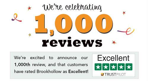 Brookhollow reaches 1,000 reviews on Trustpilot