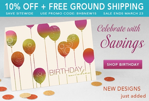 Our new designs sale ends 3 23 take advantage of it today to get take advantage of it today to get birthday cards for employees and other greeting cards for 10 percent off m4hsunfo